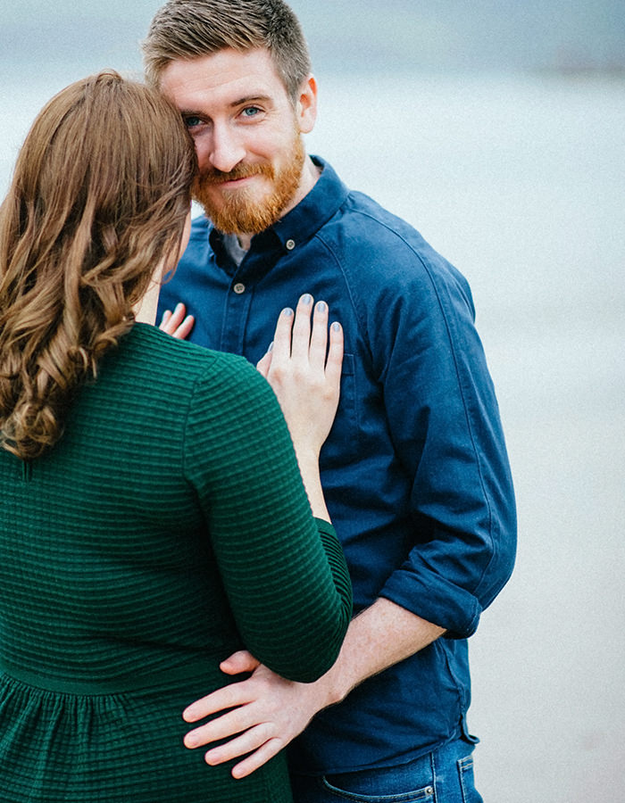 Engagement photos on beach 12