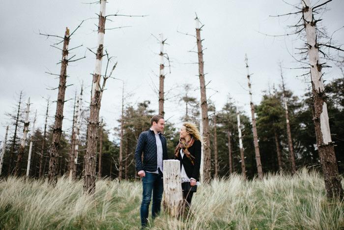wedding in woodland