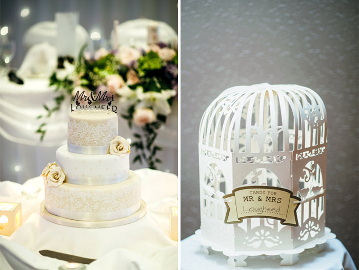 wedding cake and decorations in clayton