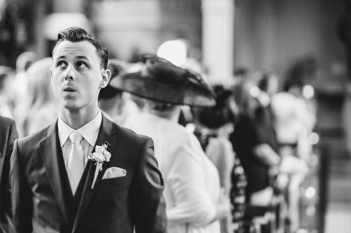 first look,groom, dubliners, waiting for bride,