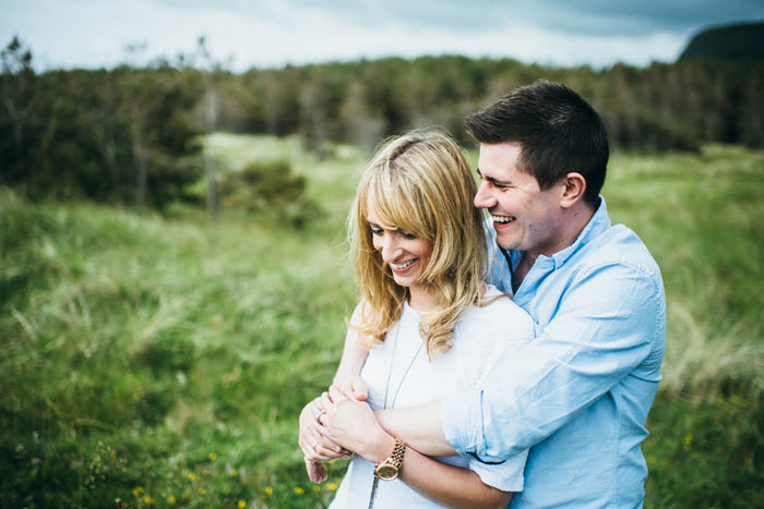 Darek Novak Sligo wedding photos of couples laughing on session
