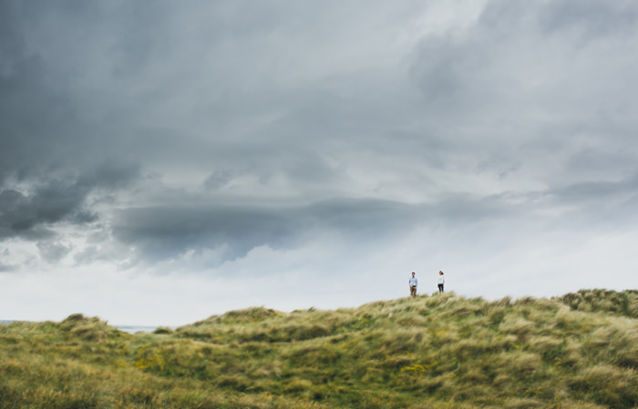engagement photos on dunes in Sligo