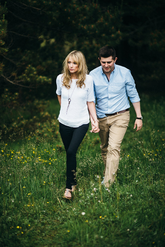 relaxed walk in Sligo during engagement photographs.