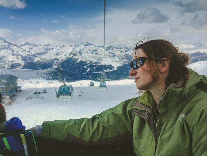 Italy Skiing in alps,dolomites12