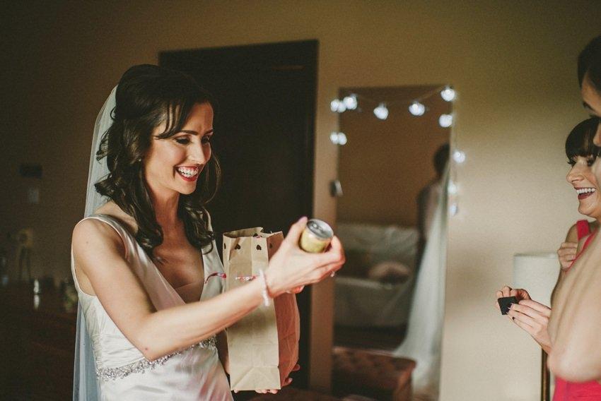 getting ready for wedding in sligo
