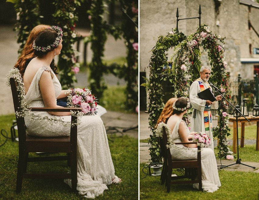 alternative venue, outdoor wedding ceremony in Ireland