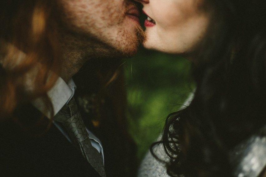 close-up kiss