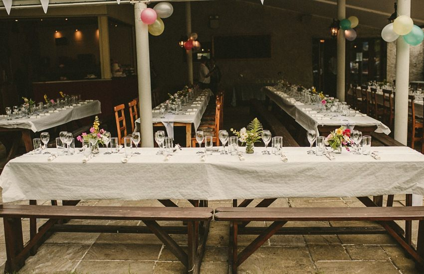alternative set up of tables at westport House