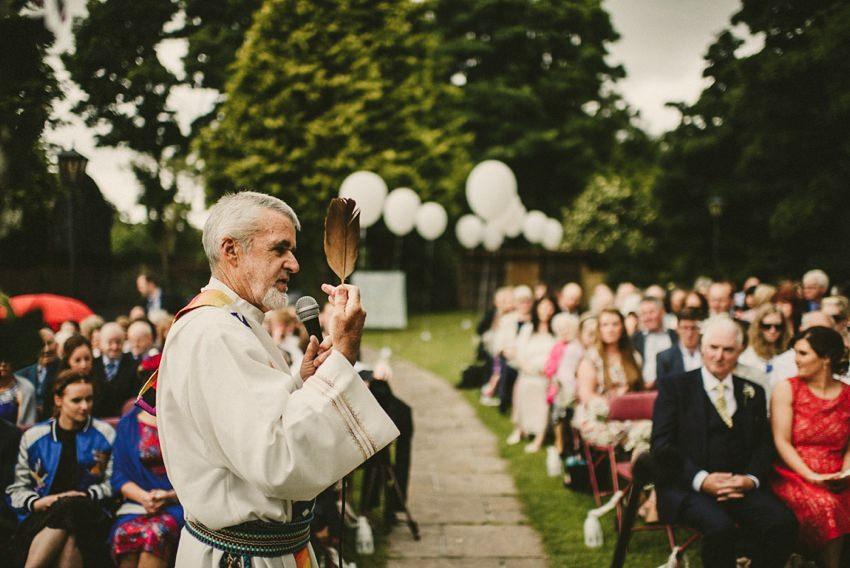 druid celebrant performing alternative ceremony