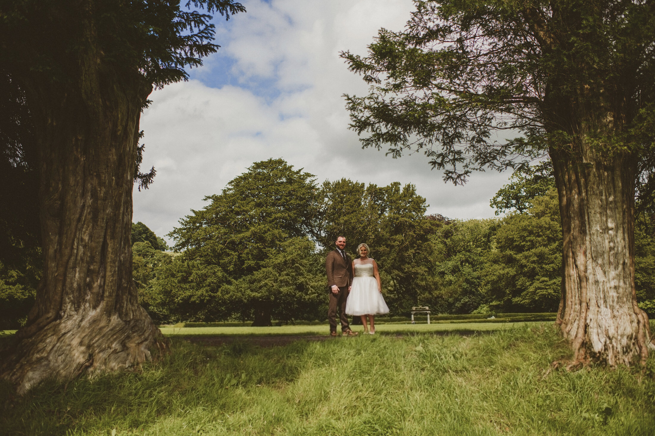 Young married couples posing for photos in Loughcrew House Oldcastle