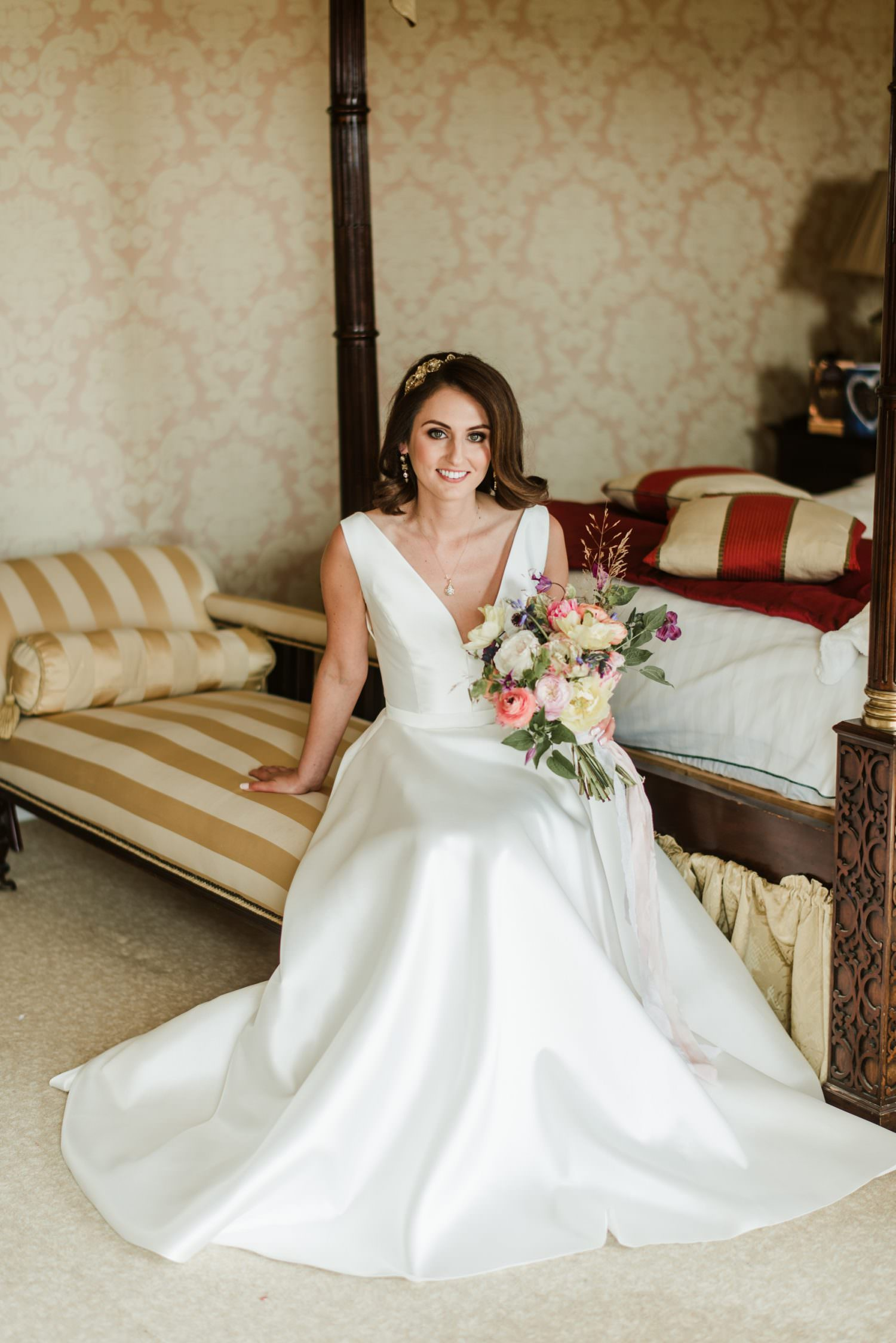 wedding dress,bridal suite, horetown house