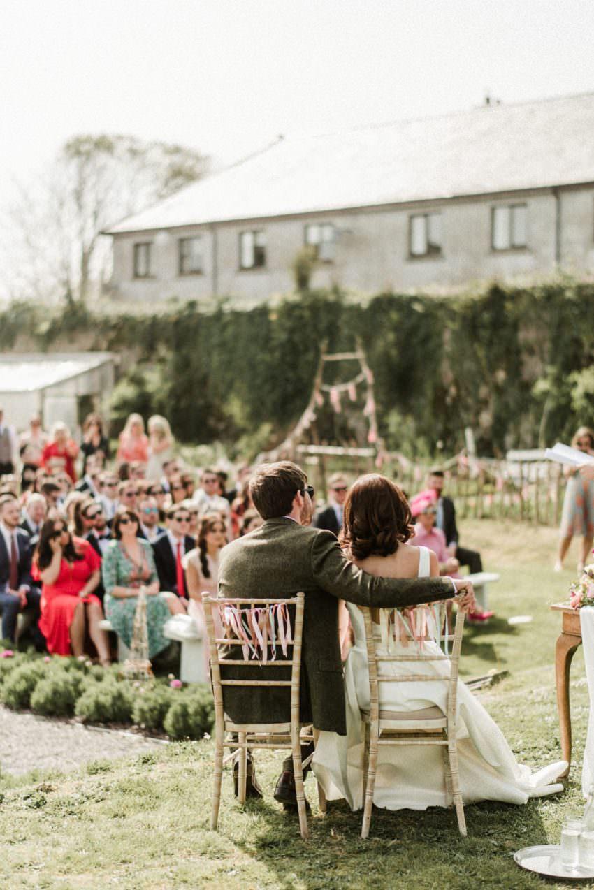 horetown house wedding, ceremony horetown house, garden ceremony, garden venue