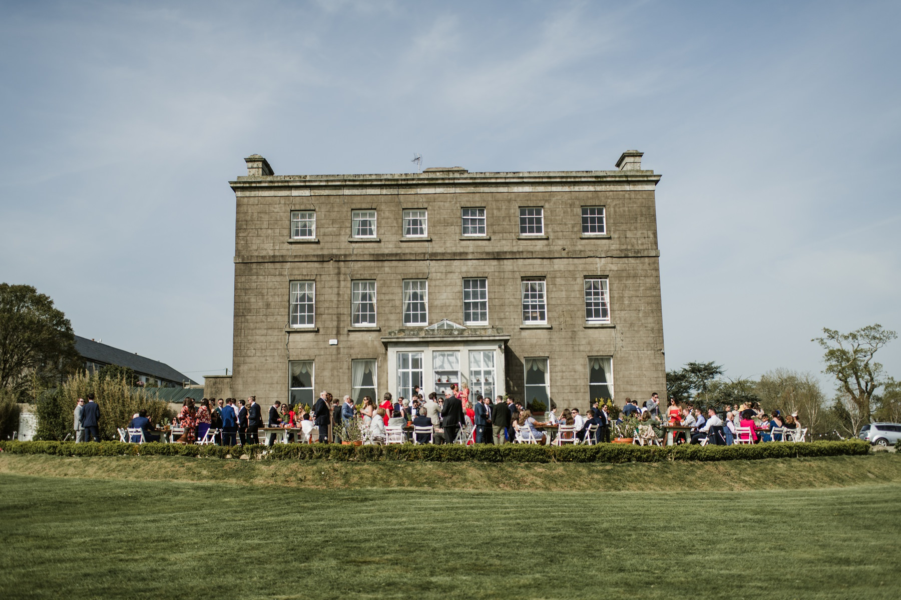 Front view of Horetown House in Wexford