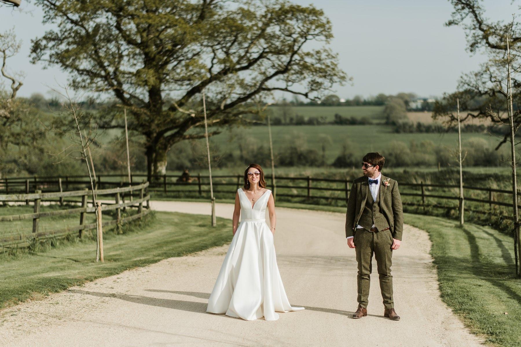 summer wedding, horetown house, outdoor ceremony