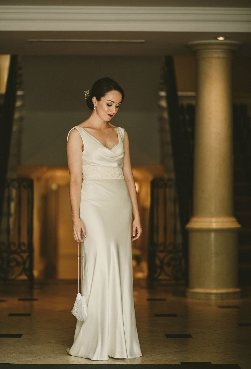 bride in step house,elegant irish dress, wedding dress