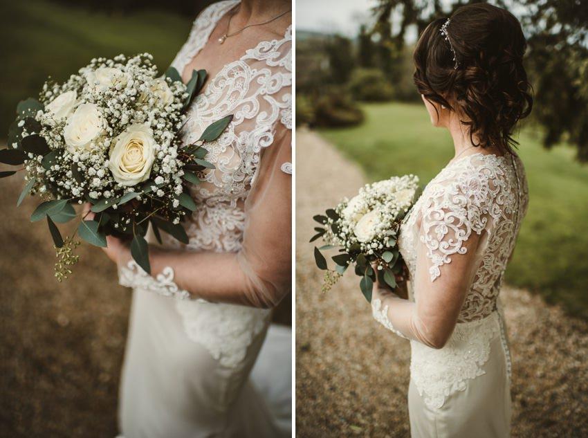 bride at Ballybeg House , styling at ballybeg