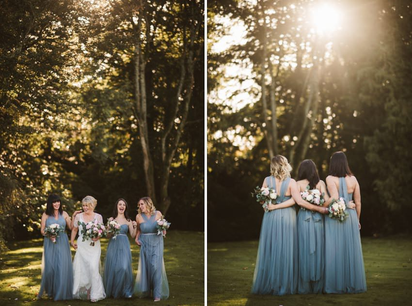 bridesmaids in marfield house