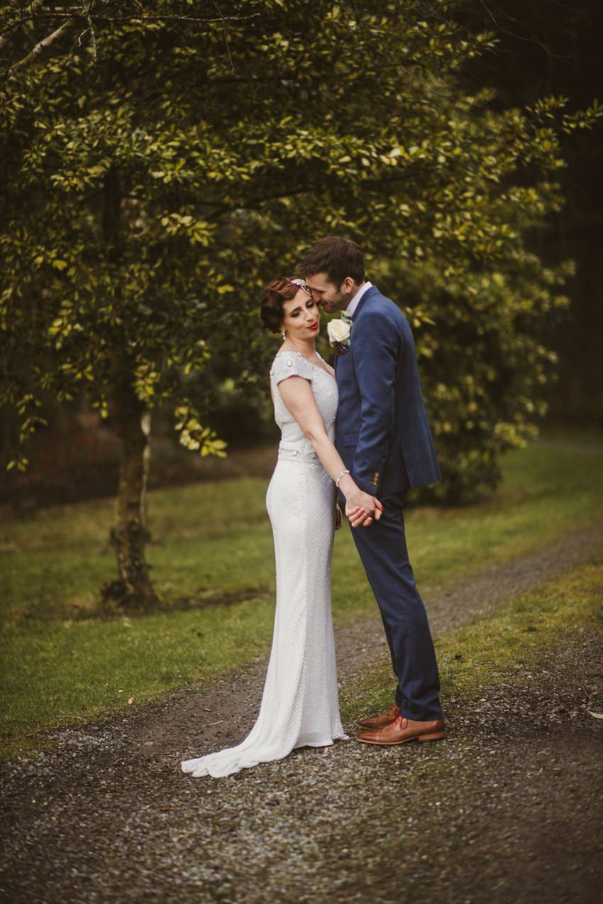 intimate posing at wedding in rathsallagh house
