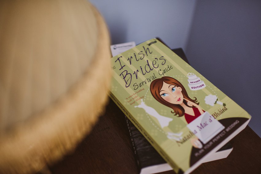 irish brides book on table