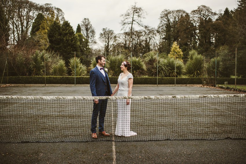 tennis court in rathsallagh house wedding