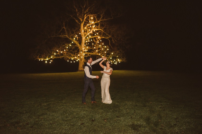 famous light tree at rathsallagh house venue