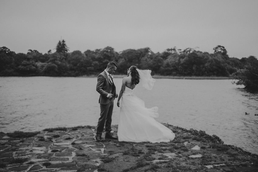 couples at their wedding in doorly park in Sligo town .documentary and relaxed portrait