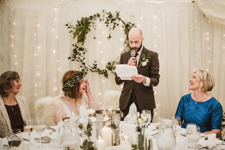 wedding speach performed in hotel doolin