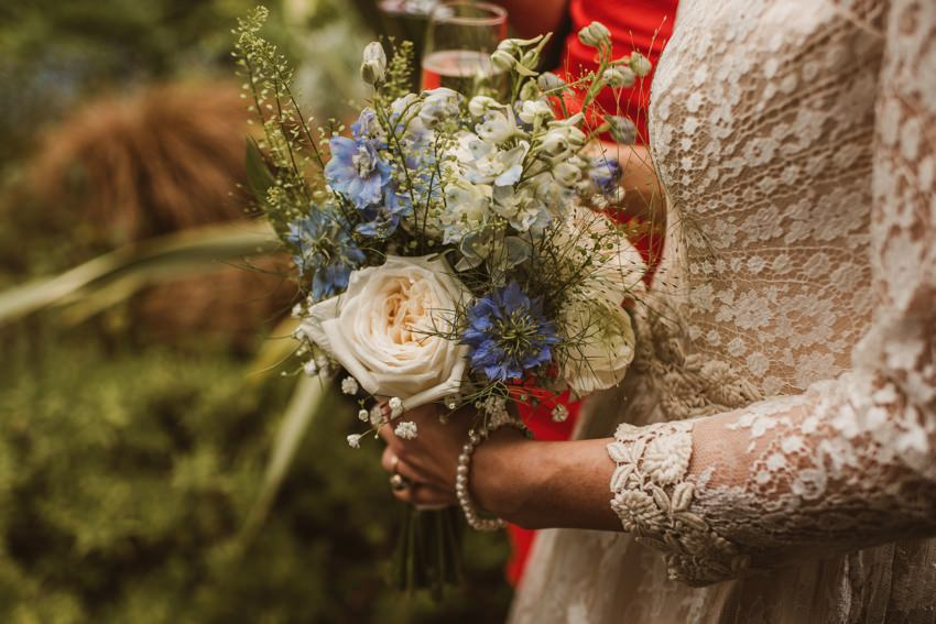 wedding flowers for bride , wild flowers