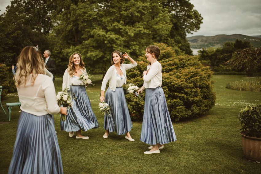 bridesmaids in rathmullan house