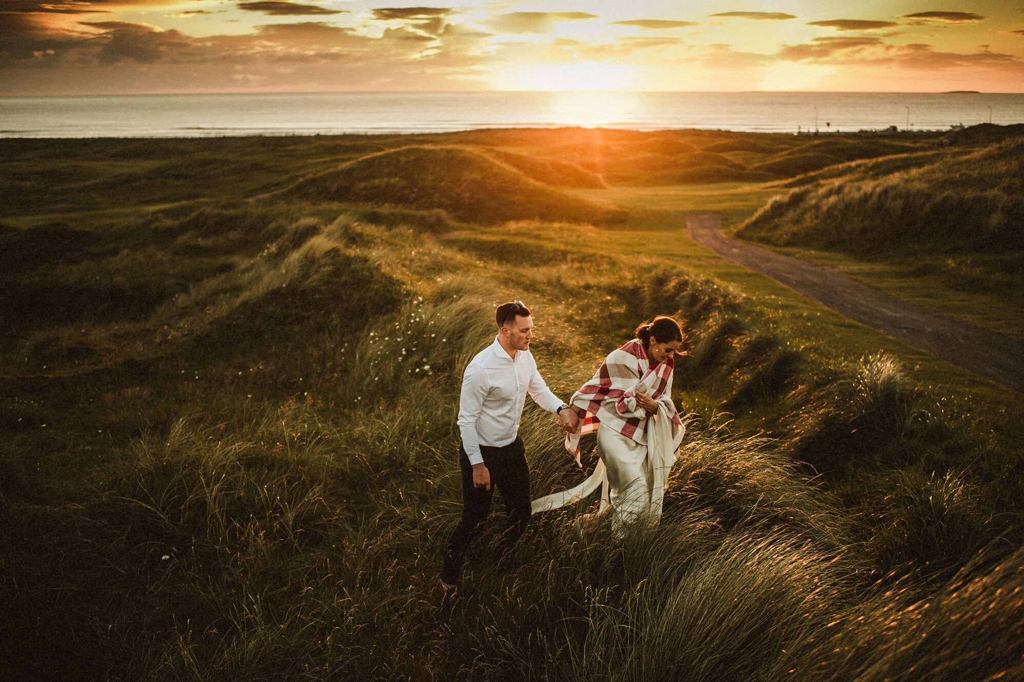 Wedding couples at Sunset in Strandhill Co.Sligo