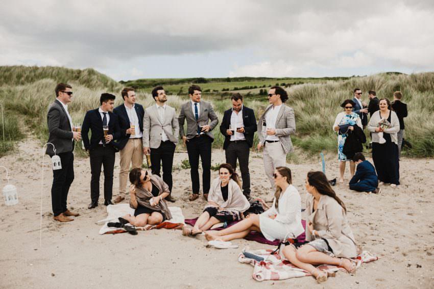 guest at beach wedding in sligo ireland