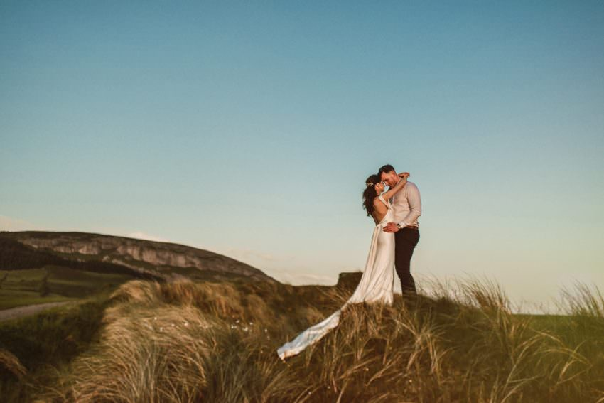wedding photos at sunset in Ireland