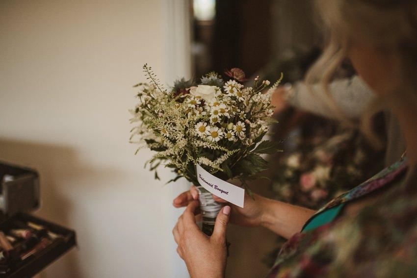 wild flowers wedding bouquet
