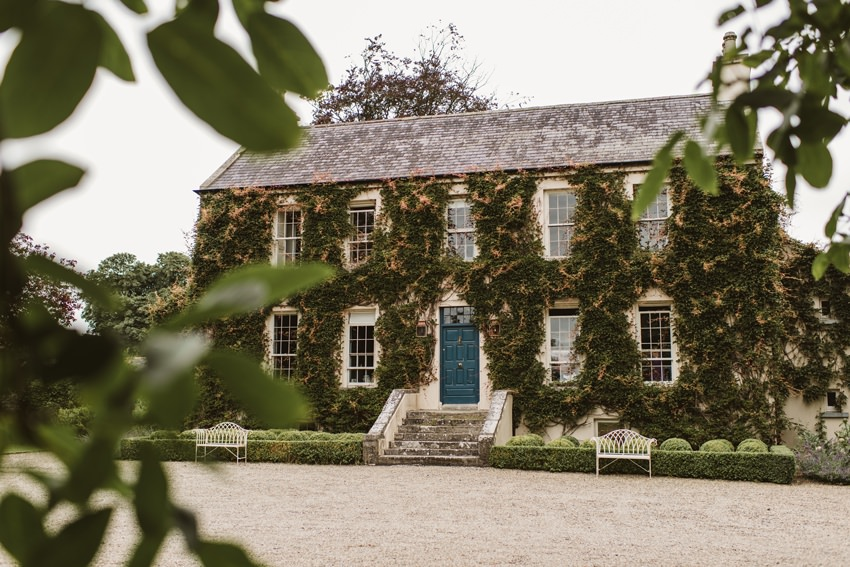 Ballintubbert house , ivy at Irish house, wedding venue