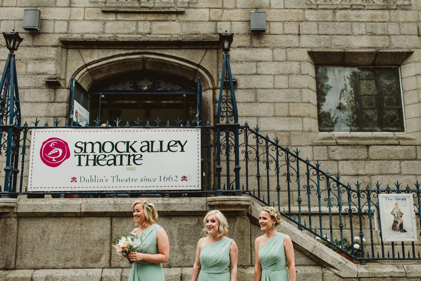front steps leading to main entrance in Smock alley Thetre