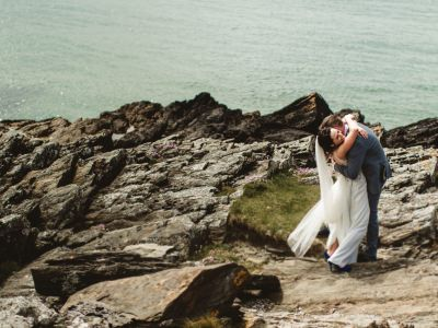 Downings, donegal wedding, cliffs in donegal, elope to ireland, married in ireland, willd atlatic wedding