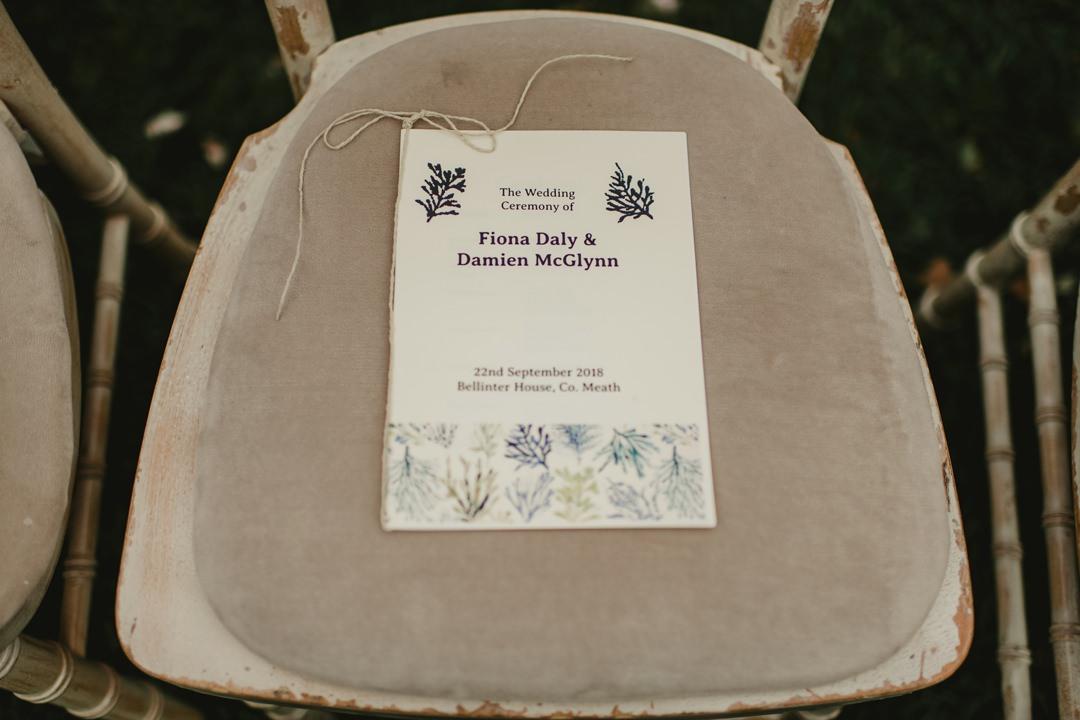 wedding invitation for bellinter house wedding
