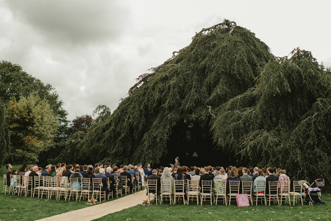 chairs set for outdoor ceremony in bellinter house hotel