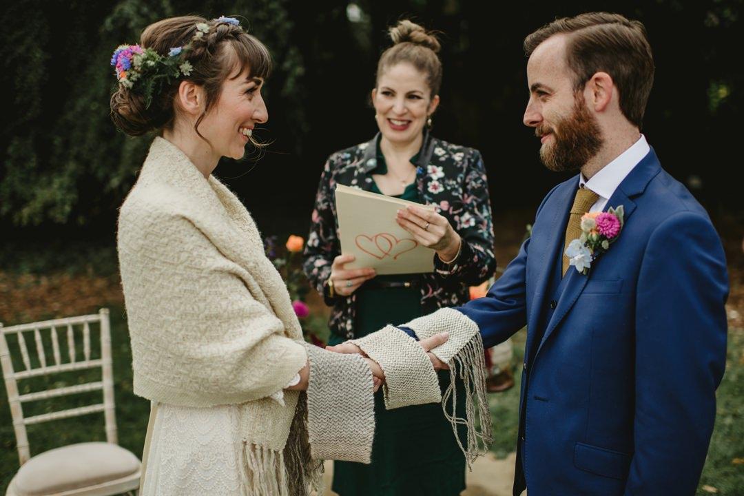 wedding celebrant reading in bellinter house