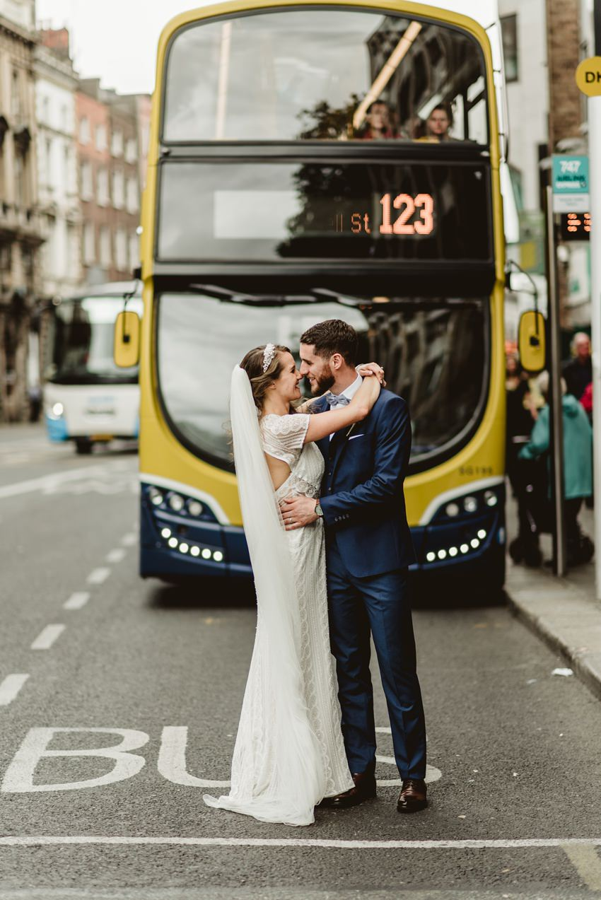 married couples at front of double decker in dublin