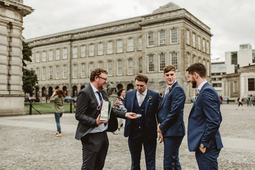 groom with groomsmans in Dublin