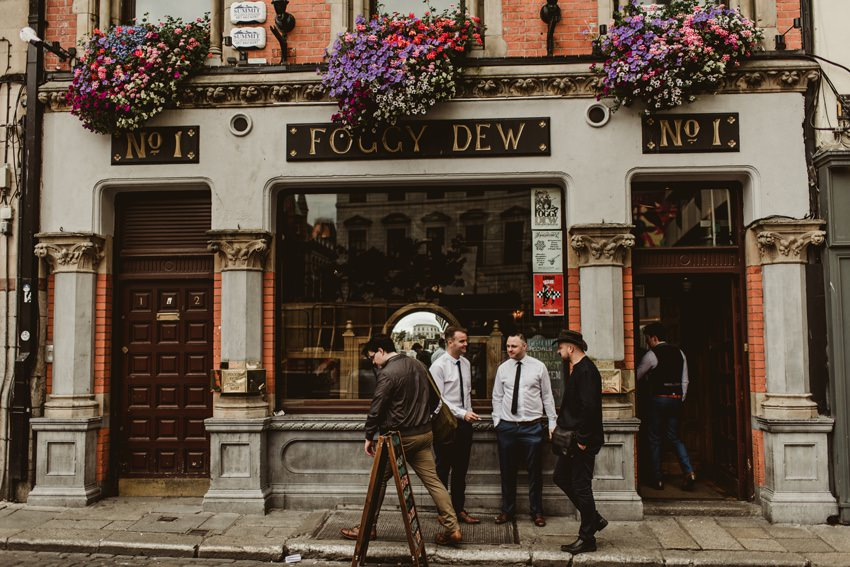 front of foggy dew pub