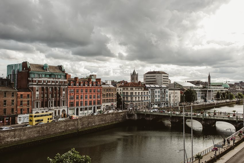view of Dublin city from Morrison hotel