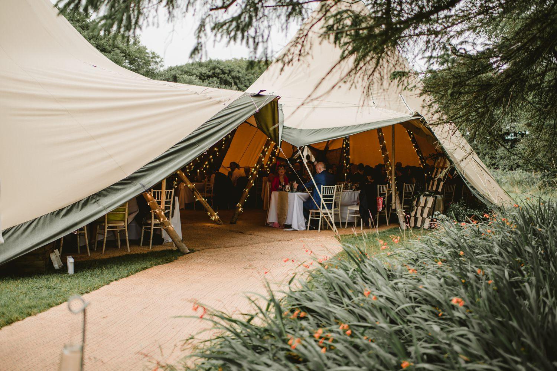 tipi tent for garden wedding