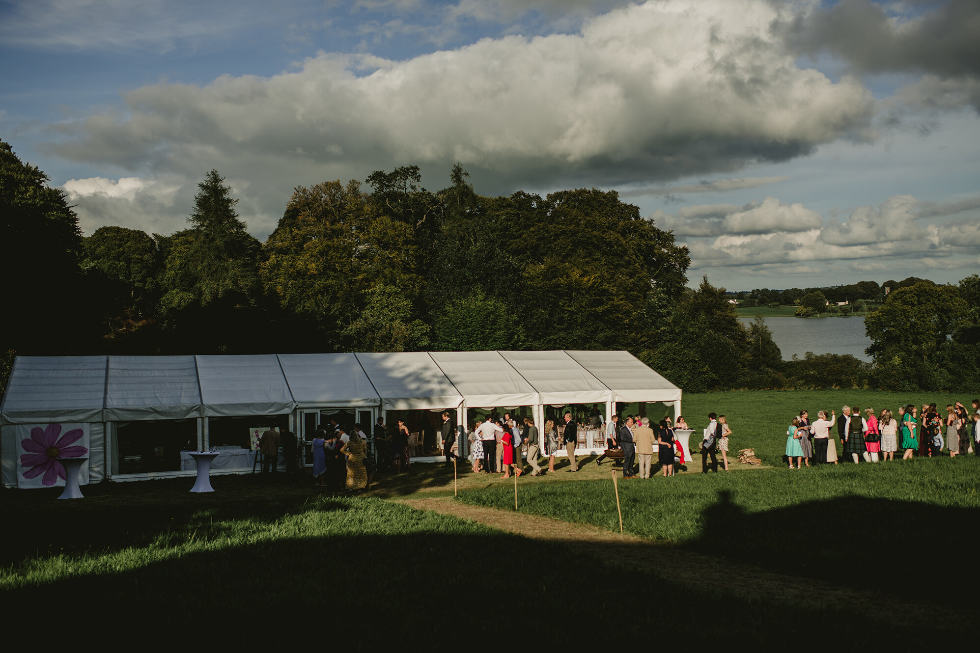 outdoor wedding ceremony in Ireland