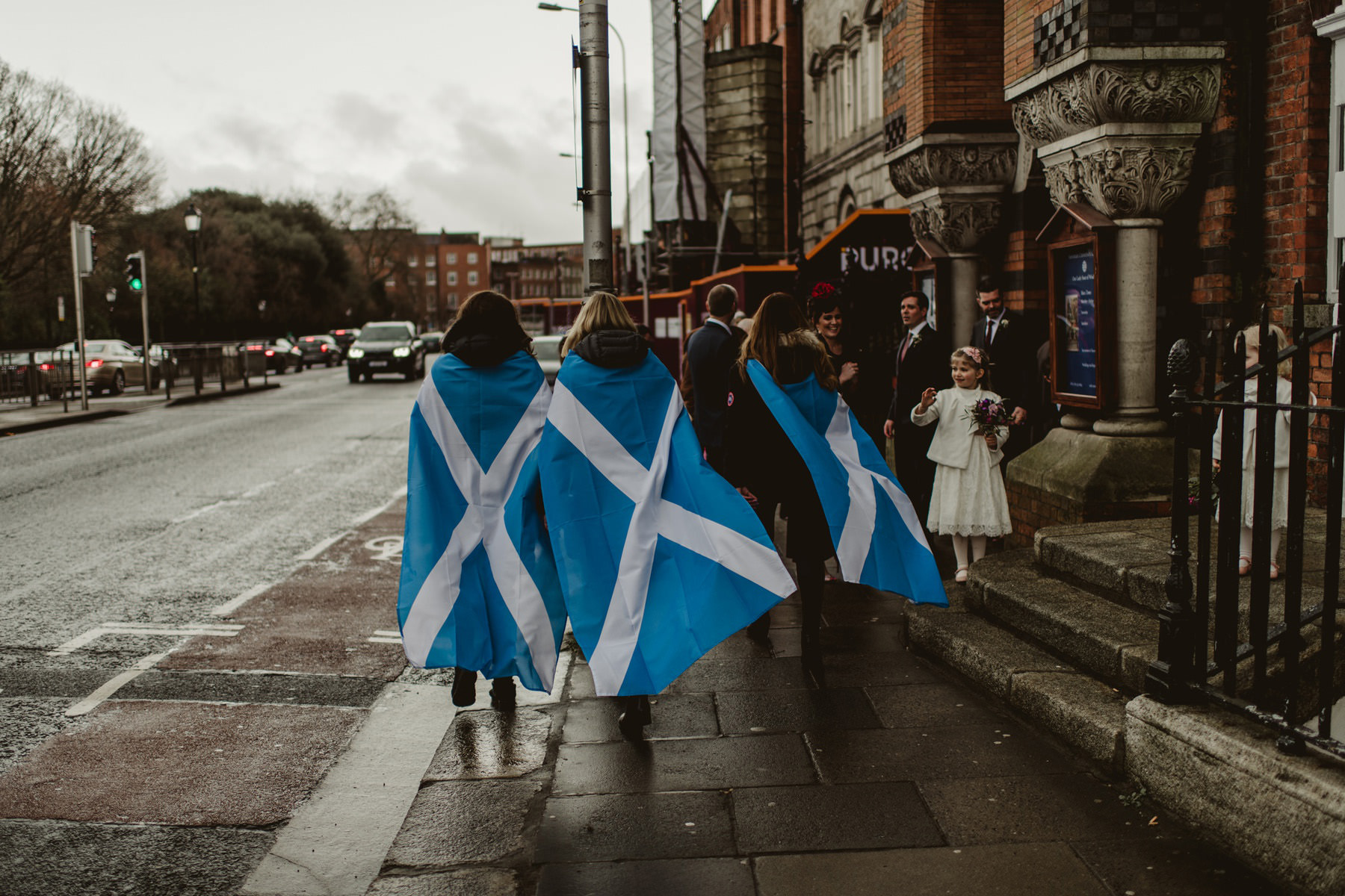 scotish flag, wedding city centre