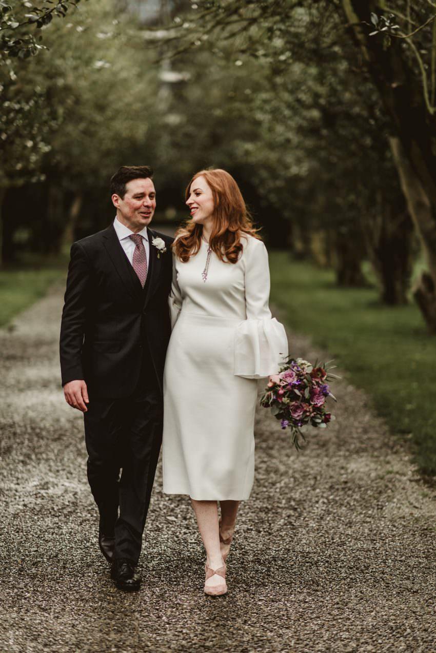 Ivy garden wedding photos