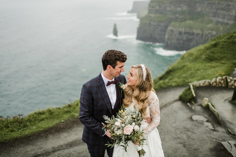 cliff of Mohers wedding ceremony