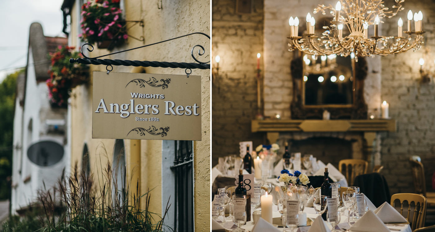 Wrights Anglers Rest, cosy restaurant, Phoenix park venue