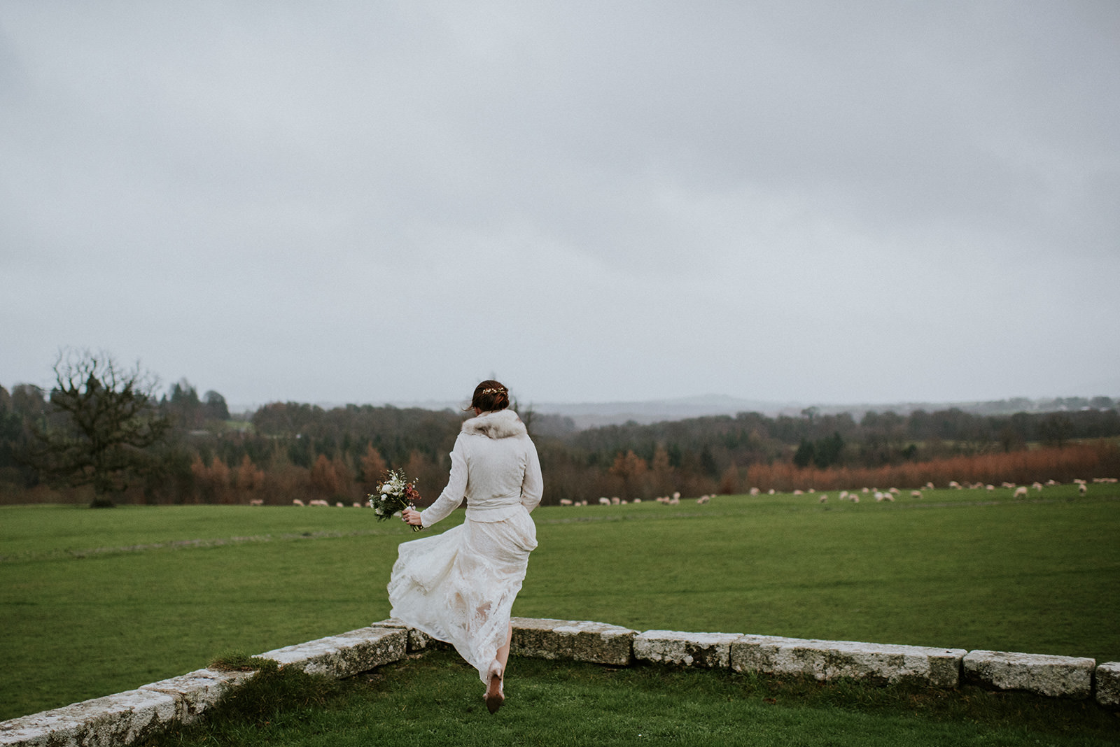 Bride in hurry for her wedding ceremony in Sligo